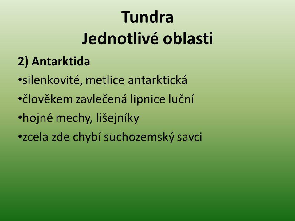Tundra Jednotlivé oblasti