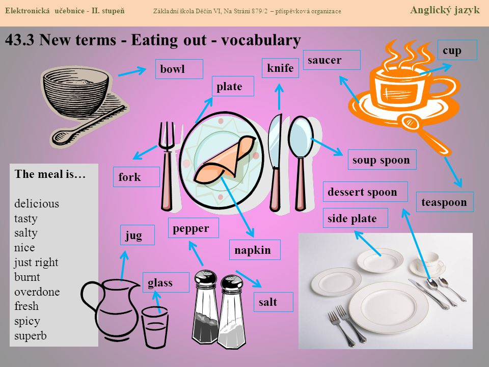 43.3 New terms - Eating out - vocabulary