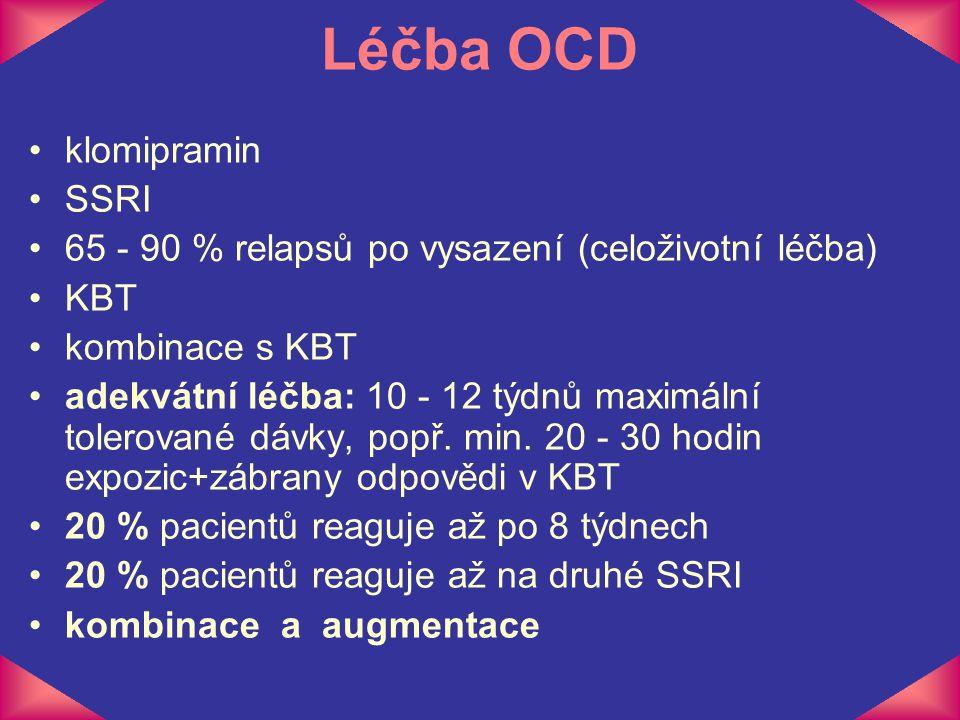 Léčba OCD klomipramin SSRI