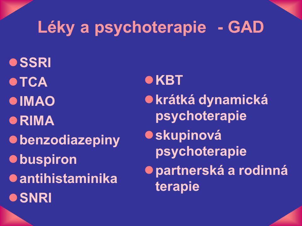 Léky a psychoterapie - GAD