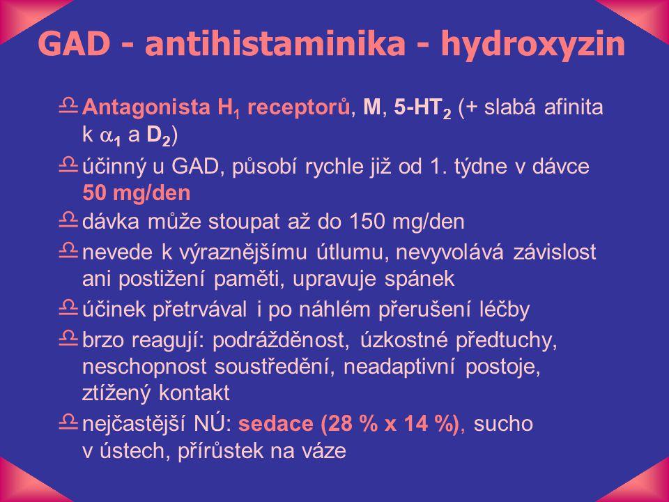 GAD - antihistaminika - hydroxyzin