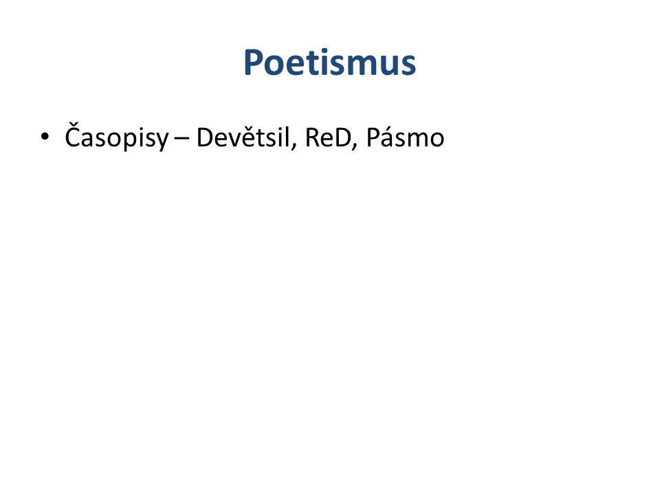 Poetismus Časopisy – Devětsil, ReD, Pásmo