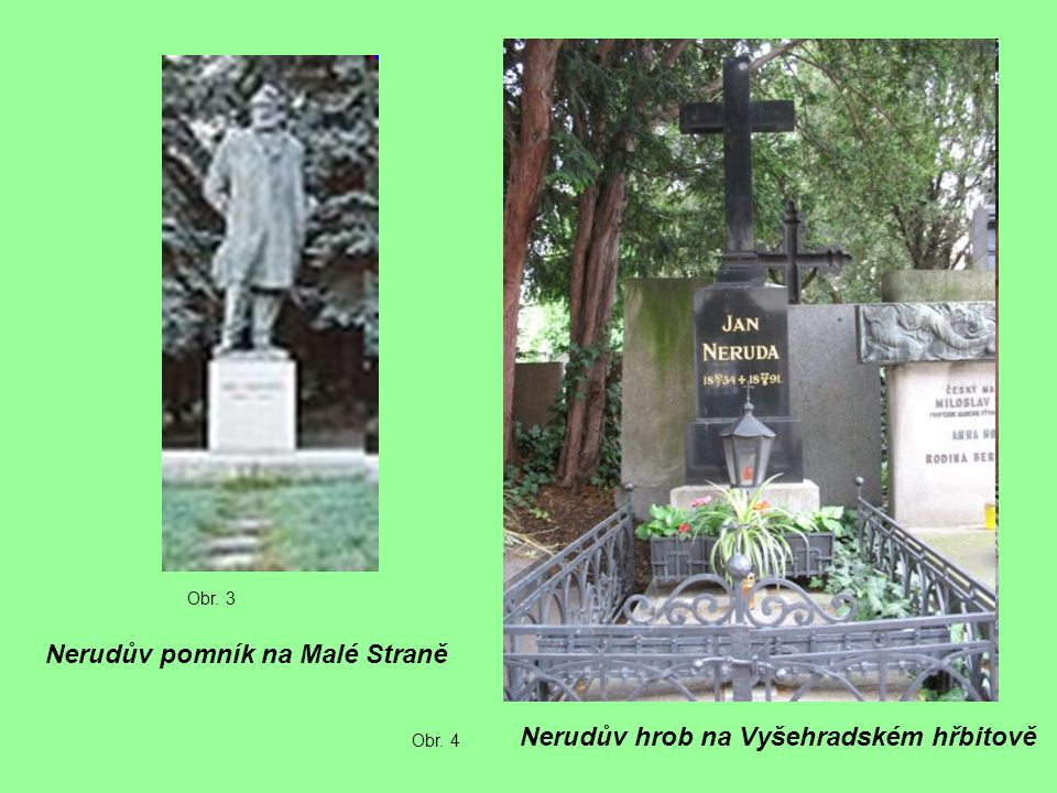 Nerudův pomník na Malé Straně