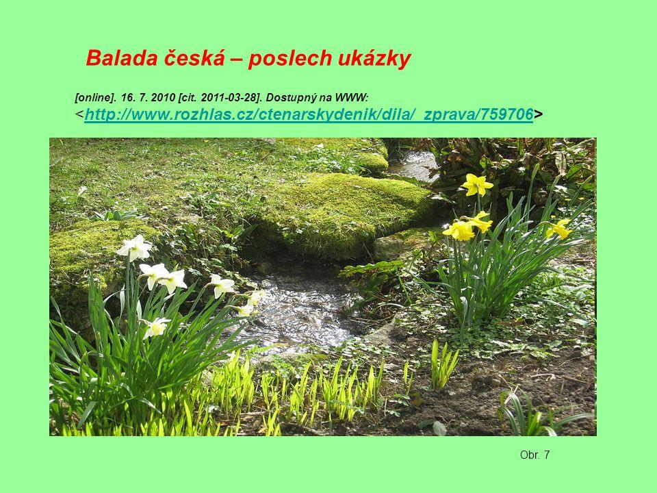 Balada česká – poslech ukázky