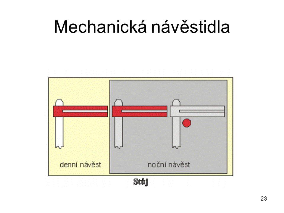 Mechanická návěstidla