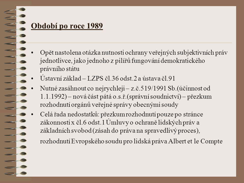 Období po roce 1989