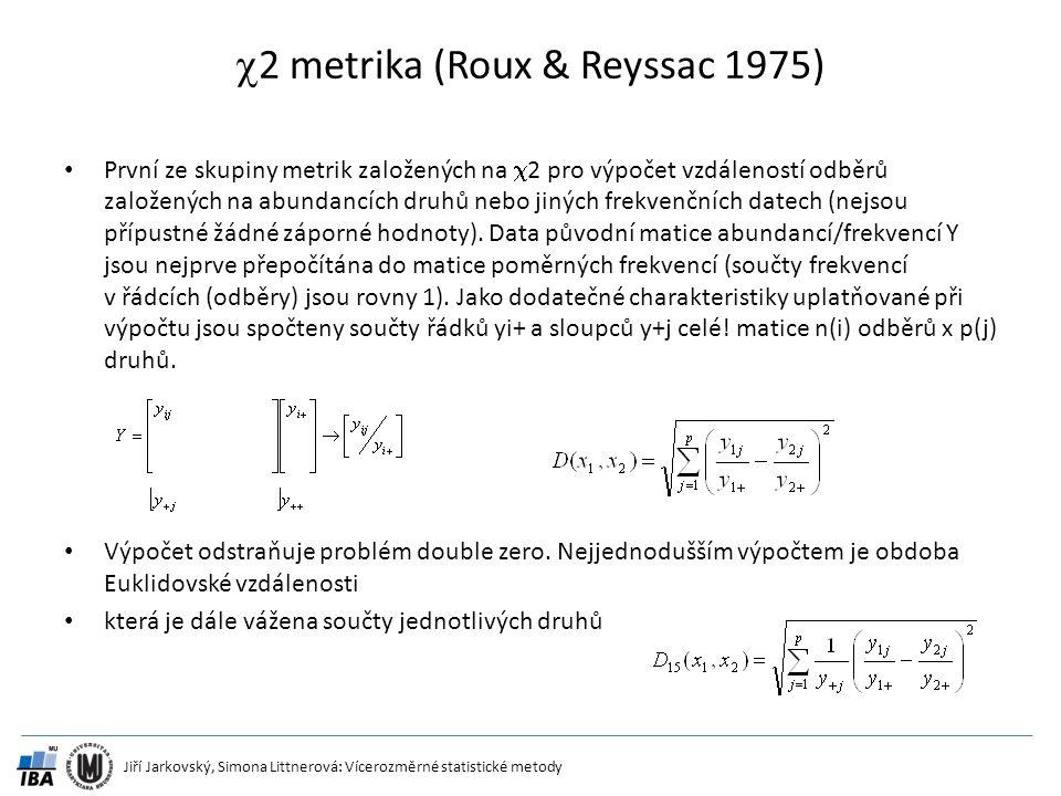 2 metrika (Roux & Reyssac 1975)