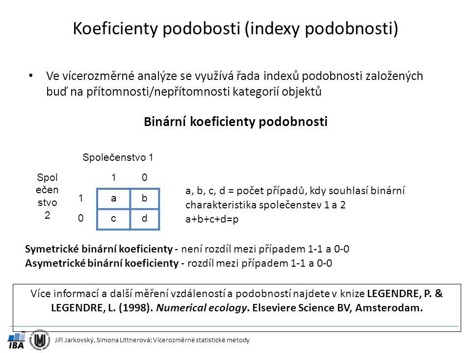 Koeficienty podobosti (indexy podobnosti)
