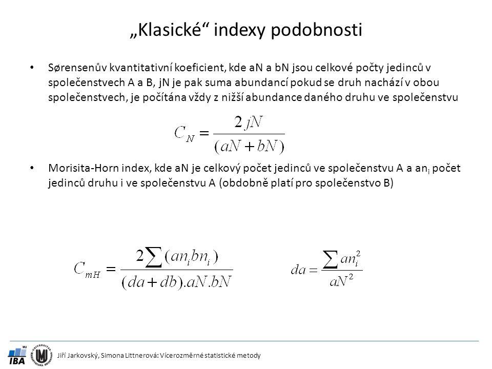 """Klasické indexy podobnosti"