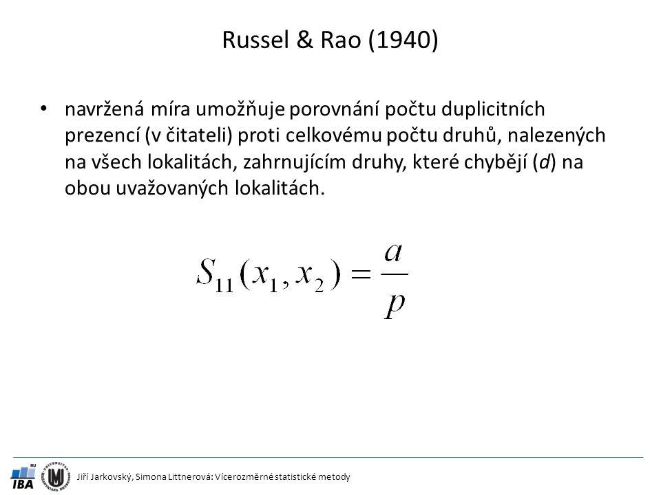 Russel & Rao (1940)