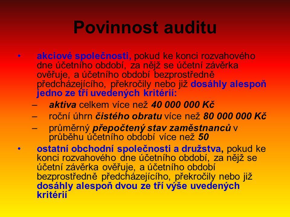 Povinnost auditu