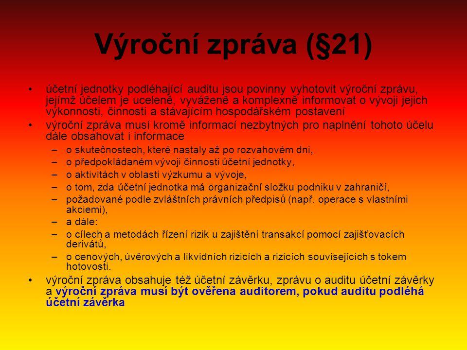 Výroční zpráva (§21)