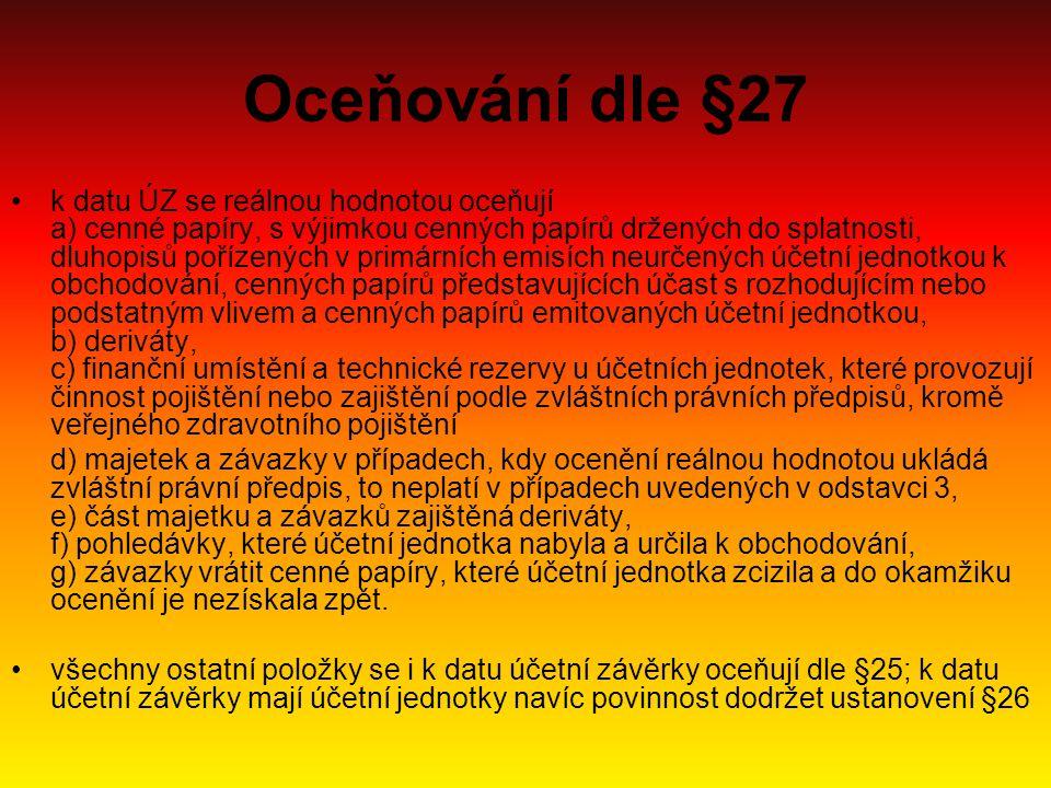 Oceňování dle §27
