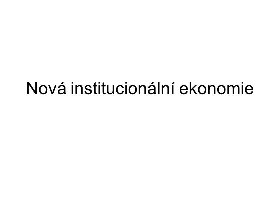 Nová institucionální ekonomie