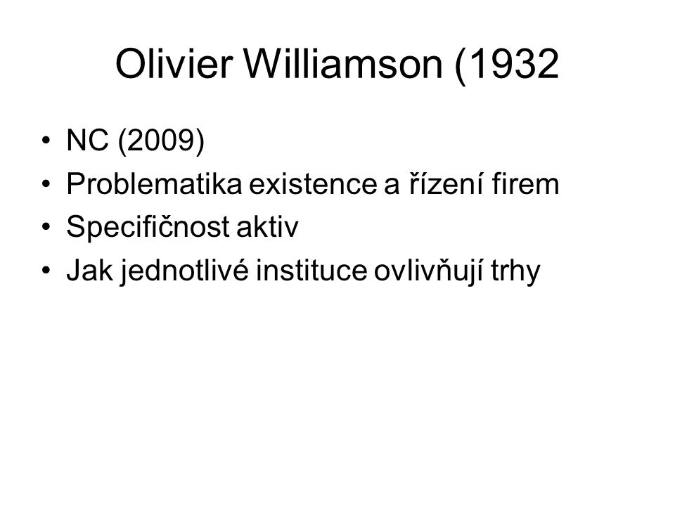Olivier Williamson (1932 NC (2009)