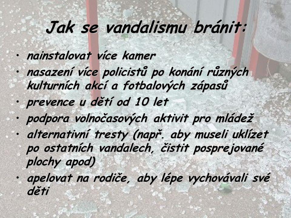 Jak se vandalismu bránit:
