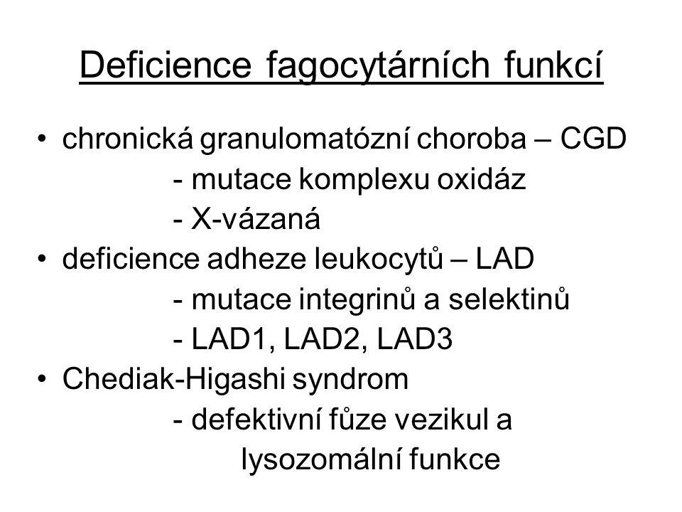 Deficience fagocytárních funkcí