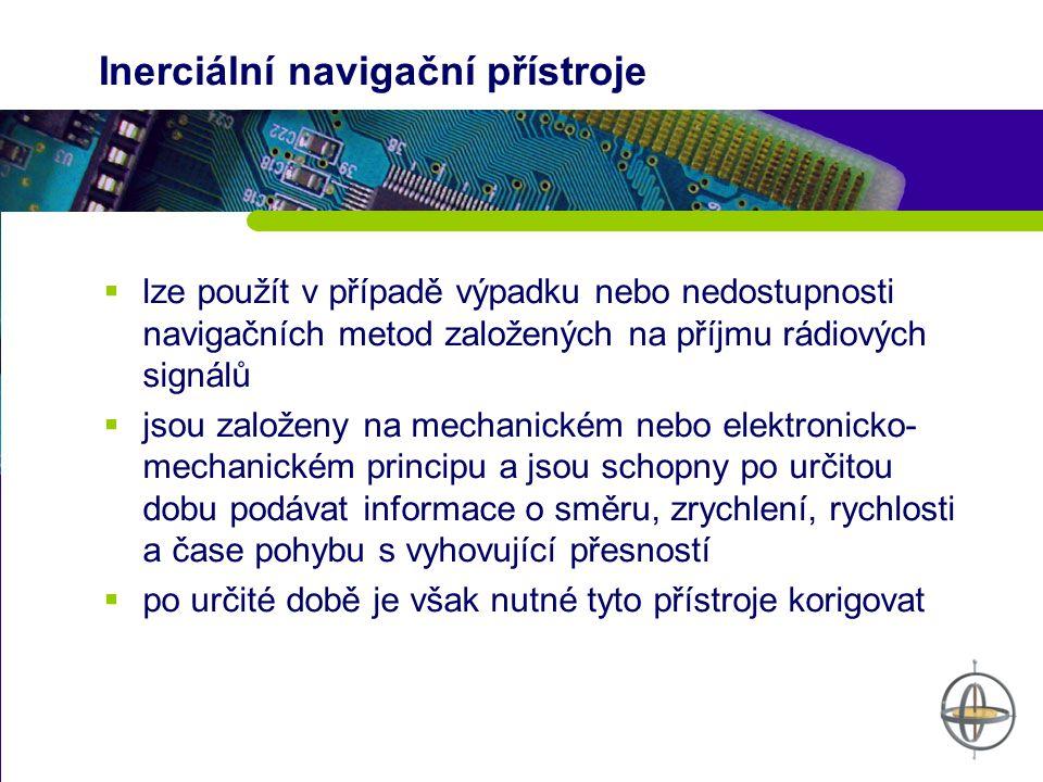 Inerciální navigační přístroje