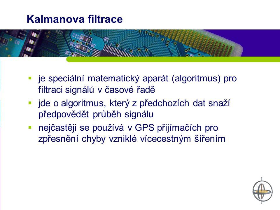 Kalmanova filtrace je speciální matematický aparát (algoritmus) pro filtraci signálů v časové řadě.