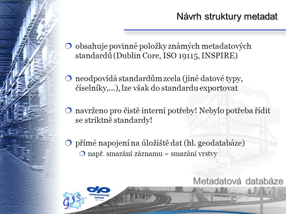 Návrh struktury metadat