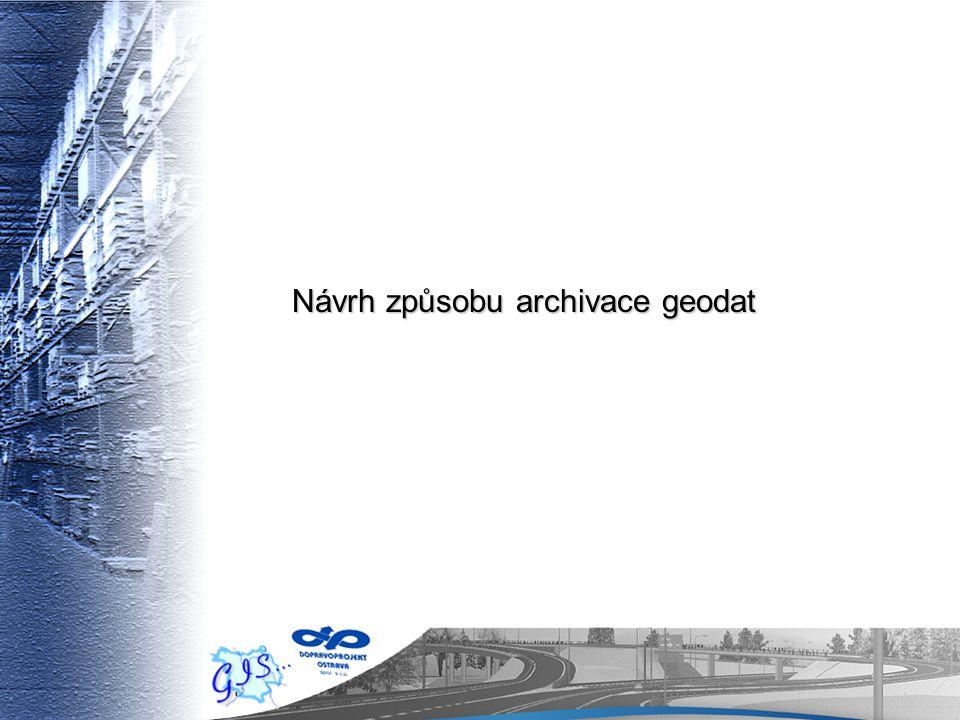 Návrh způsobu archivace geodat