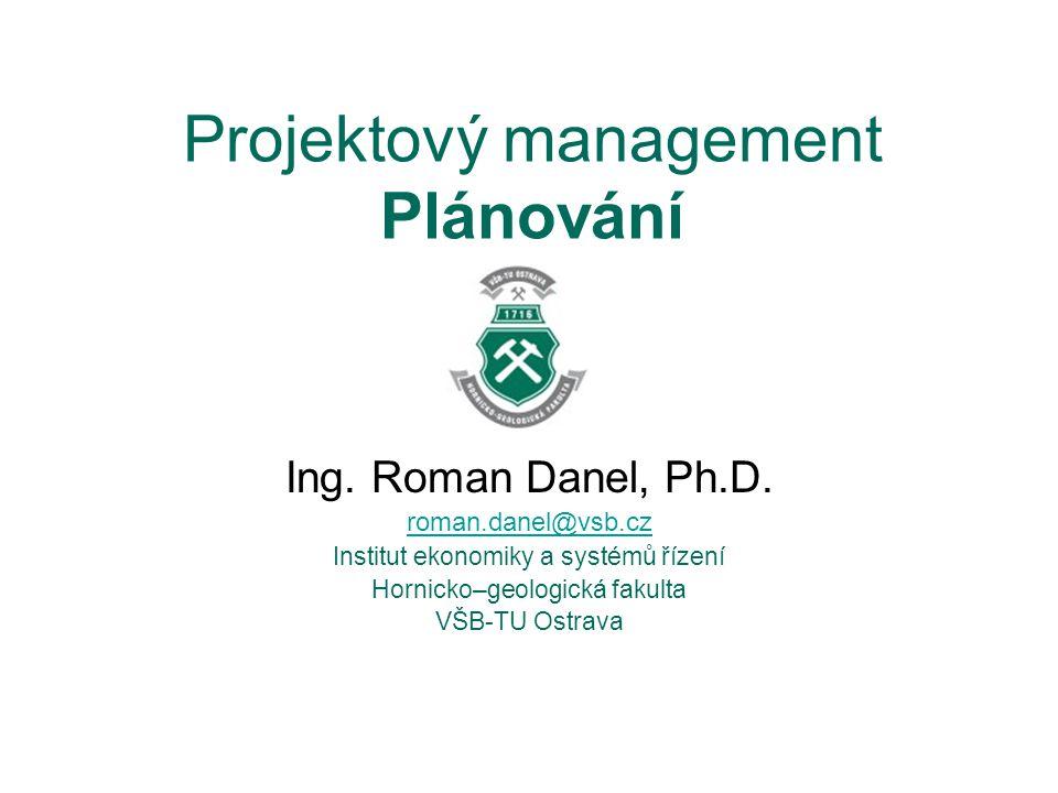 Projektový management Plánování