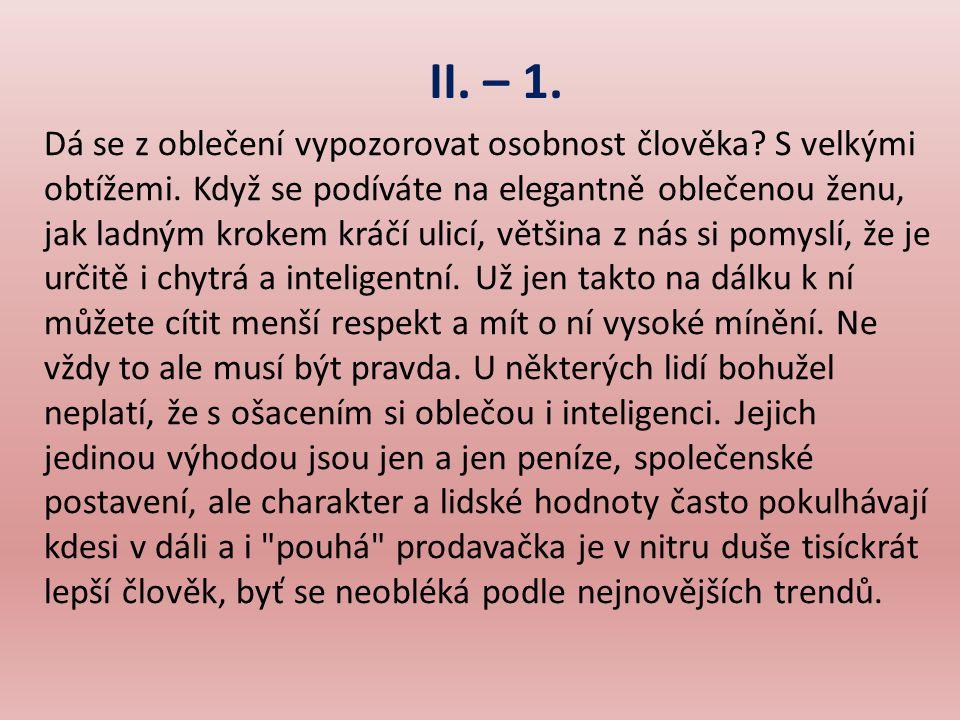 II. – 1.