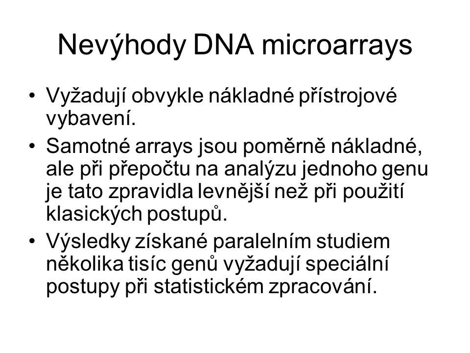 Nevýhody DNA microarrays