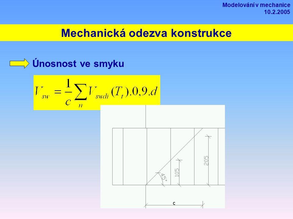 Mechanická odezva konstrukce