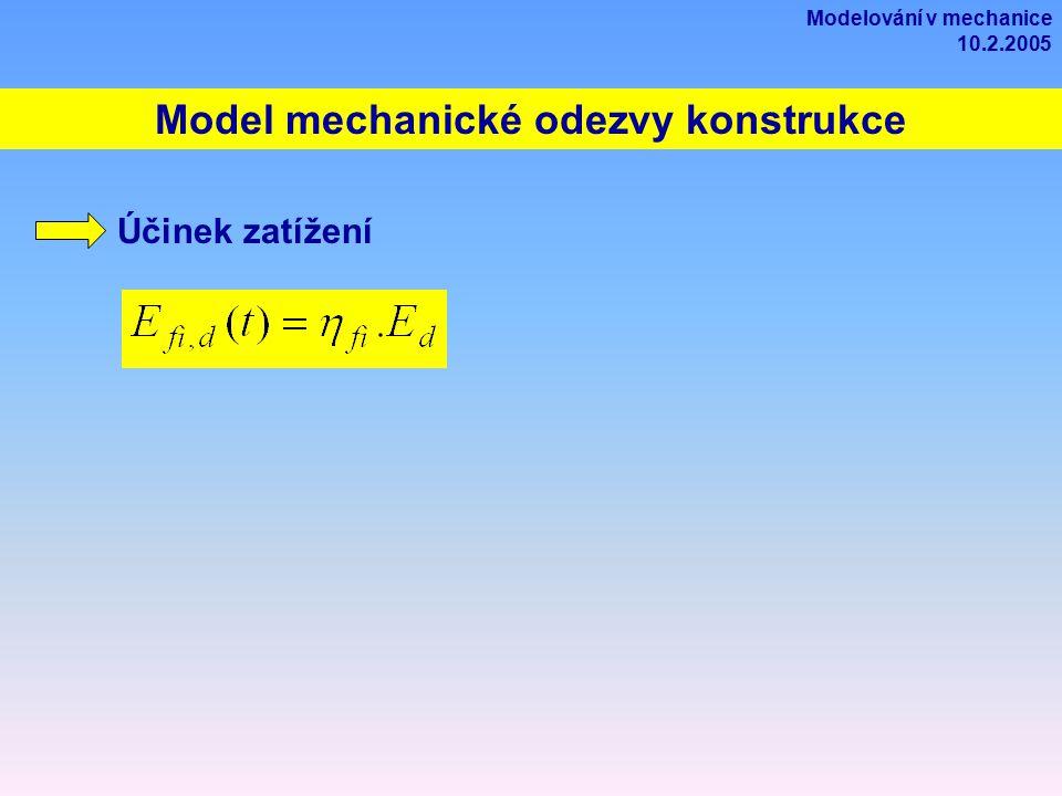 Model mechanické odezvy konstrukce