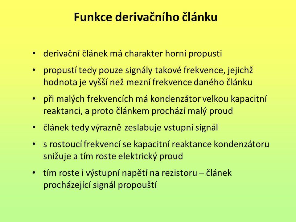 Funkce derivačního článku