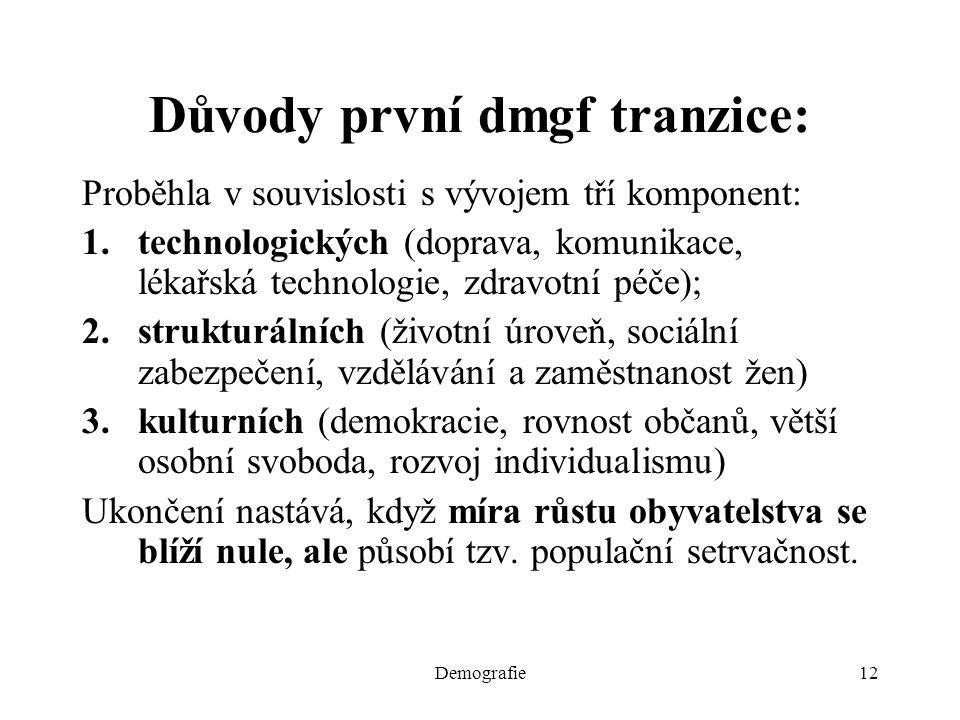 Důvody první dmgf tranzice: