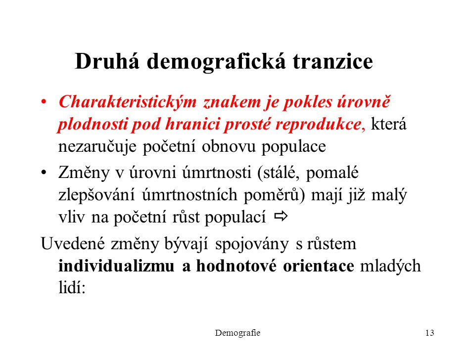 Druhá demografická tranzice