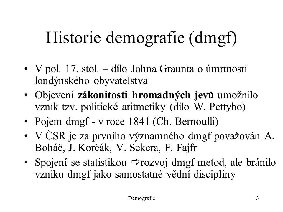 Historie demografie (dmgf)