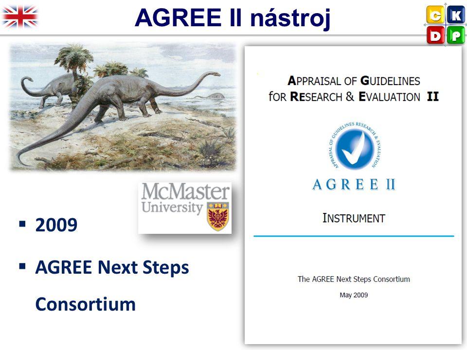 AGREE II nástroj C K D P 2009 AGREE Next Steps Consortium