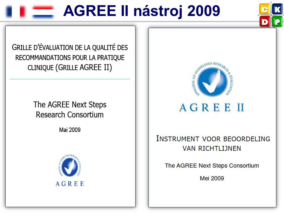 AGREE II nástroj 2009 C K D P