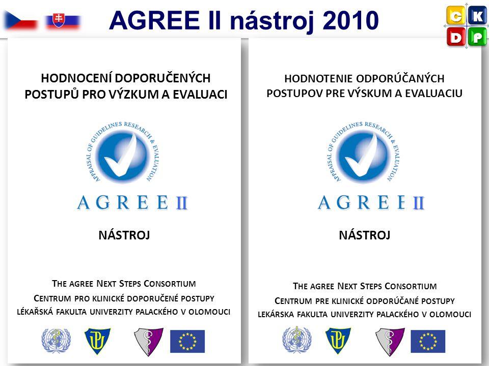 AGREE II nástroj 2010 II II C K D P