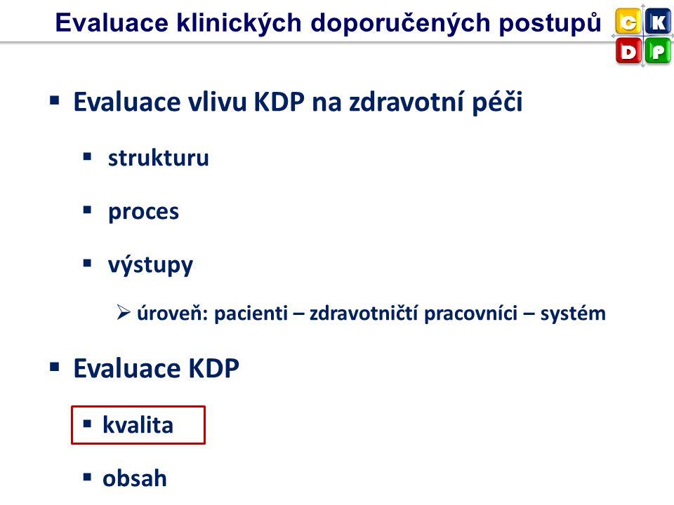 Evaluace vlivu KDP na zdravotní péči