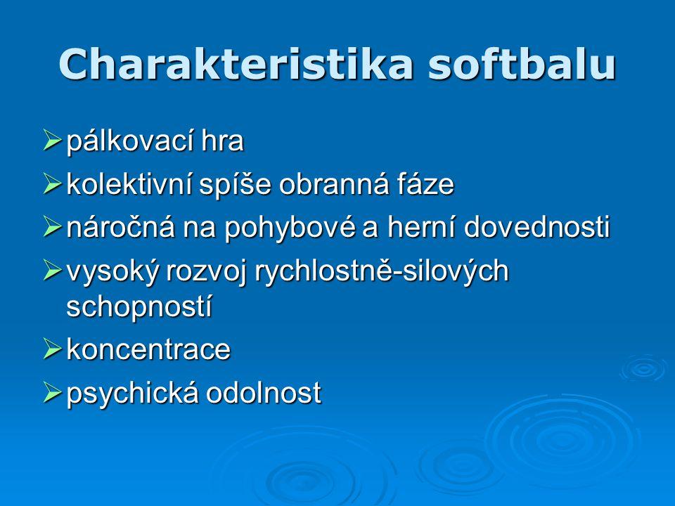 Charakteristika softbalu