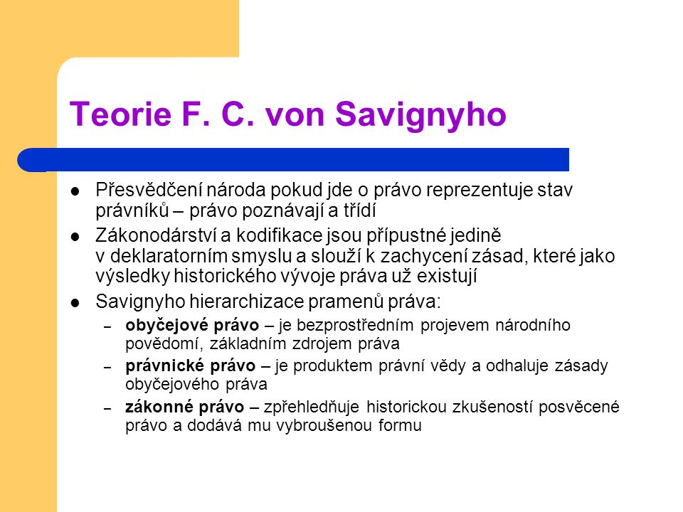 Teorie F. C. von Savignyho