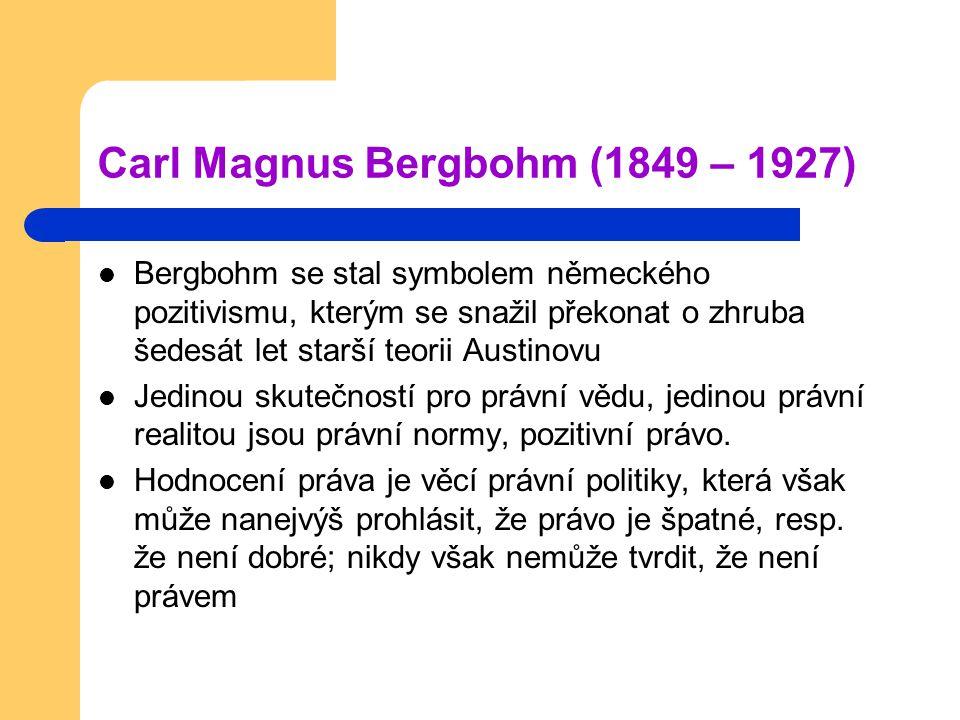 Carl Magnus Bergbohm (1849 – 1927)