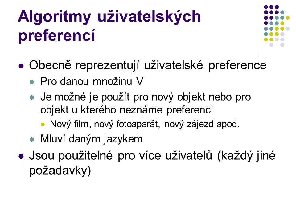 Algoritmy uživatelských preferencí