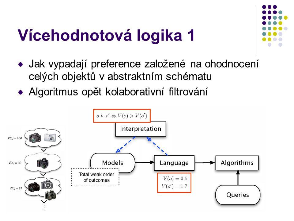 Vícehodnotová logika 1 Jak vypadají preference založené na ohodnocení celých objektů v abstraktním schématu.