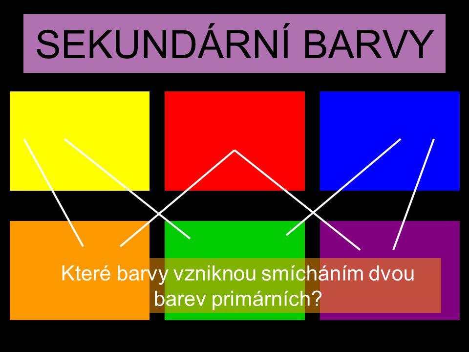 Které barvy vzniknou smícháním dvou barev primárních