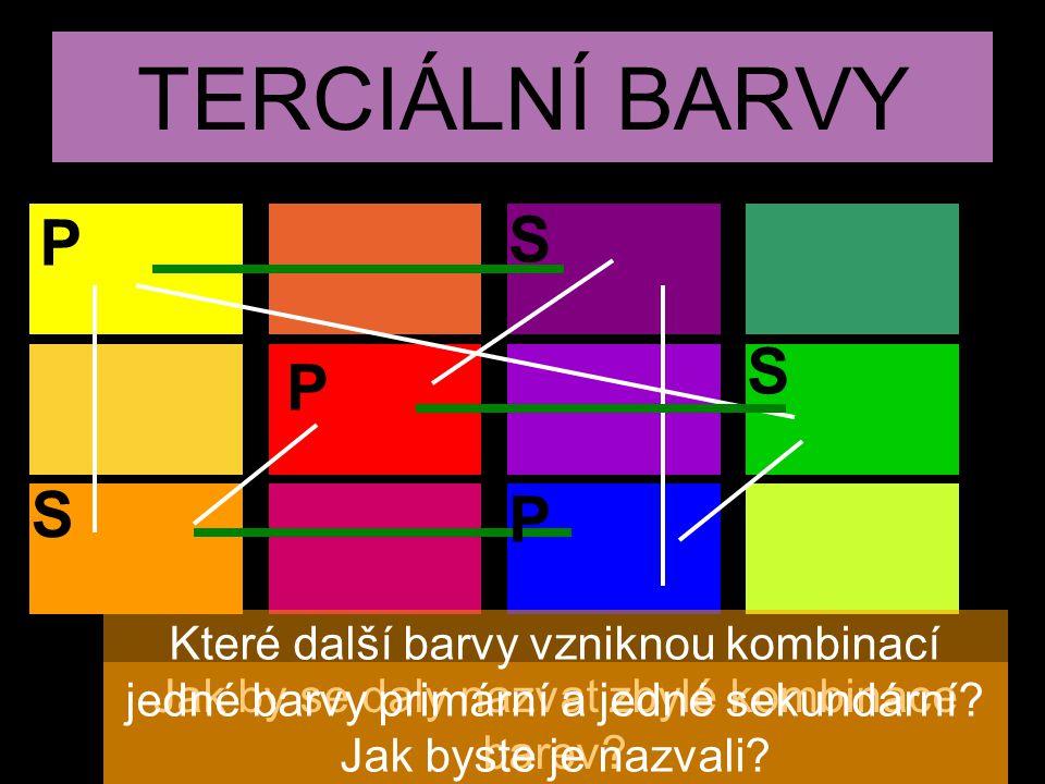 Jak by se daly nazvat zbylé kombinace barev