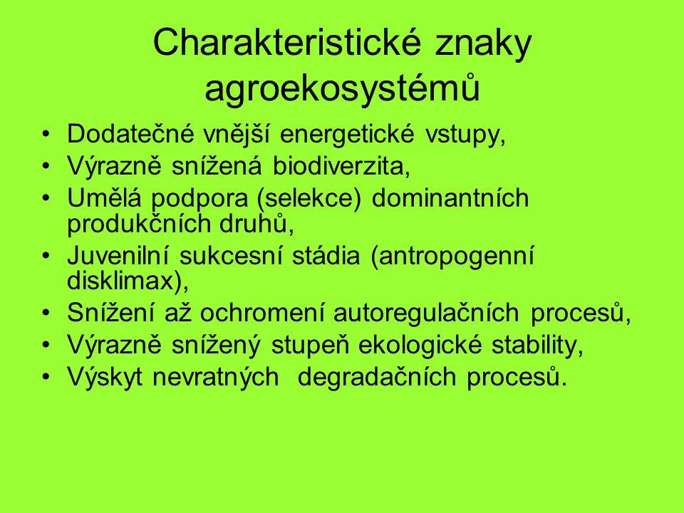 Charakteristické znaky agroekosystémů