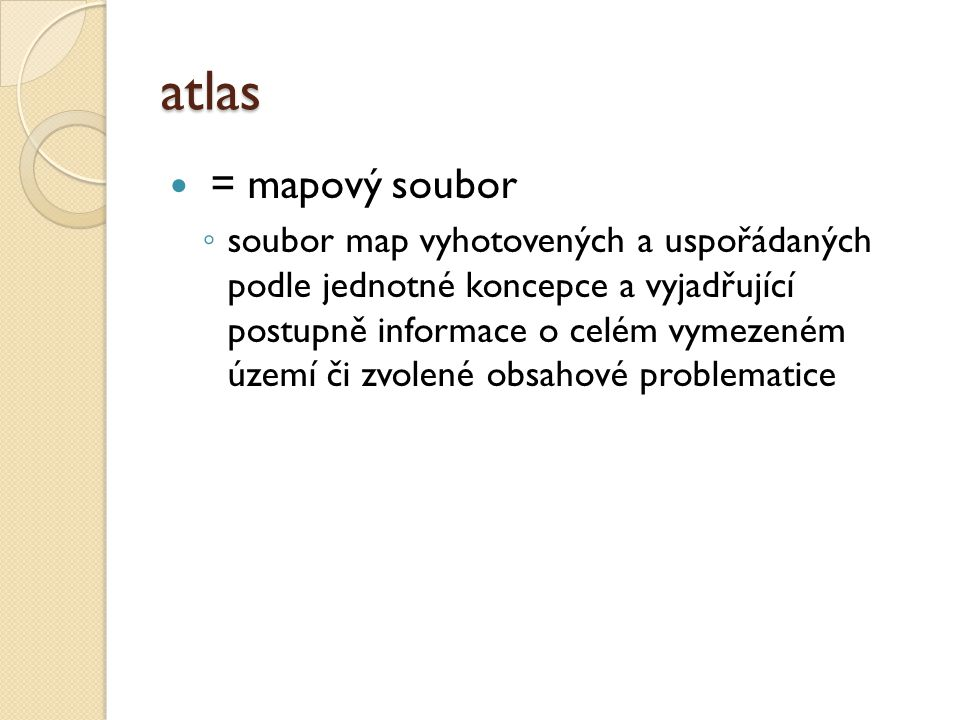 atlas = mapový soubor.