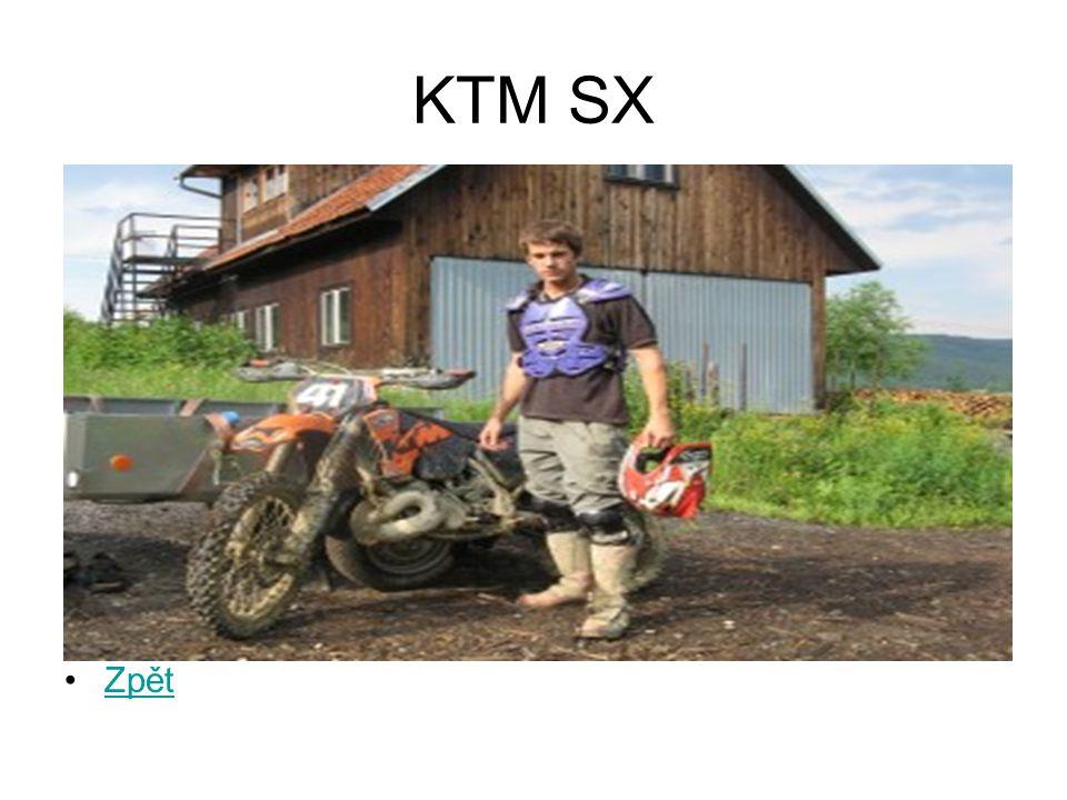 KTM SX Zpět