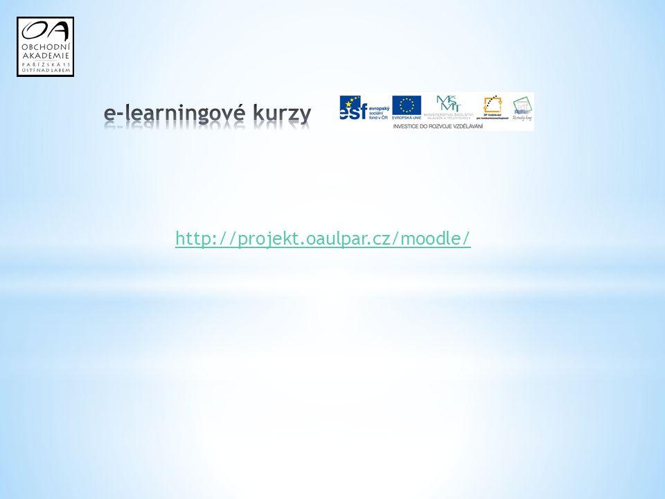 e-learningové kurzy http://projekt.oaulpar.cz/moodle/