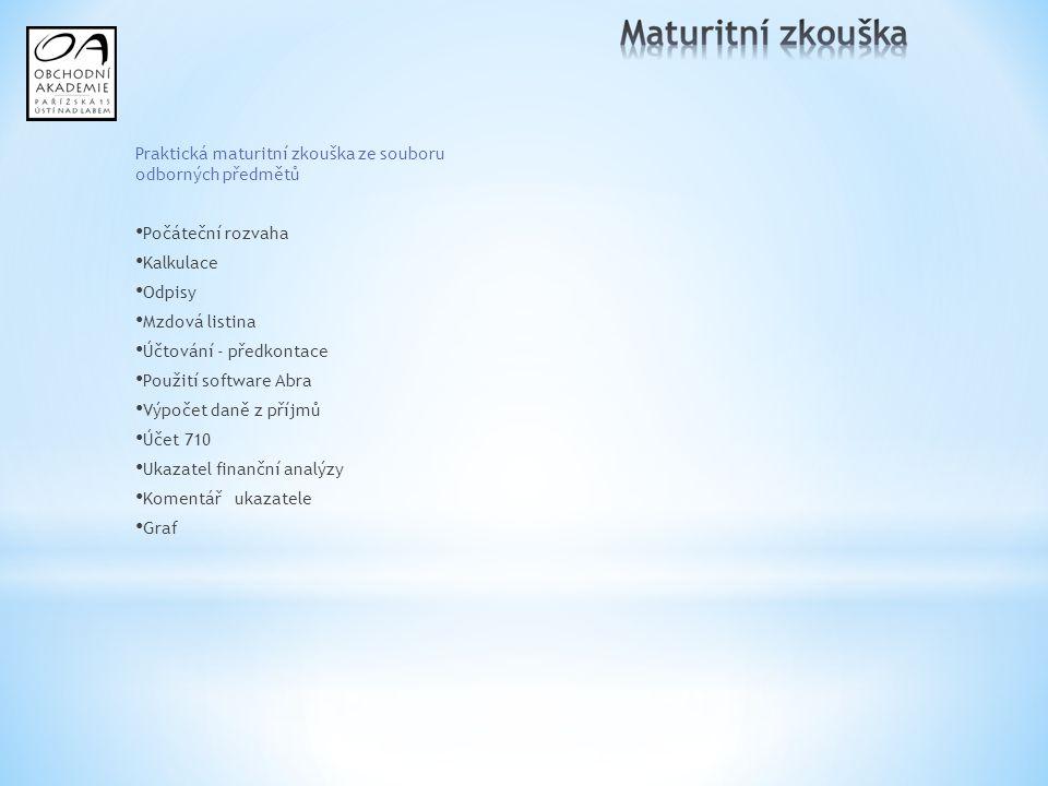 Praktická maturitní zkouška ze souboru odborných předmětů